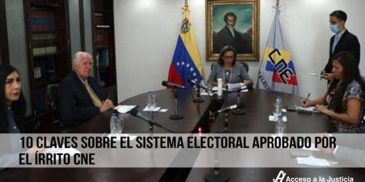 10 claves sobre el sistema electoral aprobado por el írrito CNE