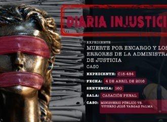 Muerte por encargo y los errores de la administración de justicia