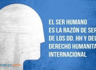 El ser humano es la razón de ser de los DD. HH y del derecho humanitario internacional