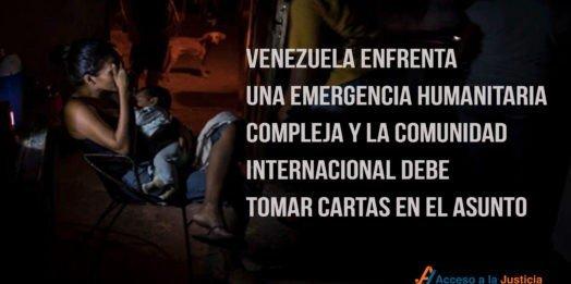 Venezuela enfrenta una emergencia humanitaria compleja y la comunidad internacional debe tomar cartas en el asunto