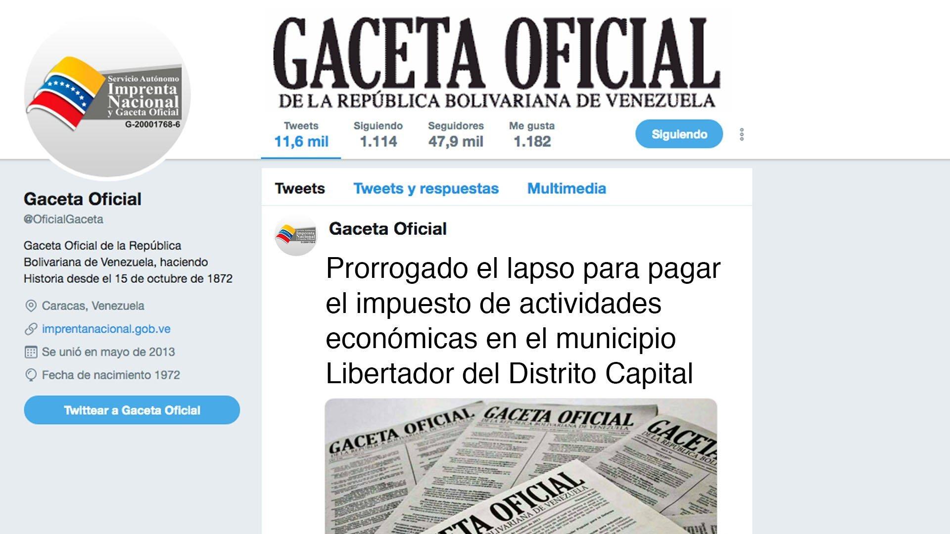 Prorrogado el lapso para pagar el impuesto de actividades económicas en el municipio Libertador del Distrito Capital