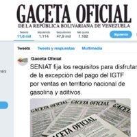 Seniat fija los requisitos para disfrutar de la excepción de pago del IGTF por venta en territorio nacional de gasolina y aditivos