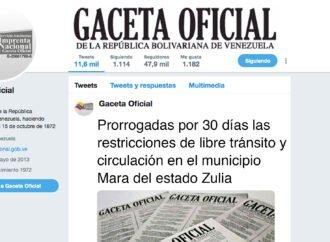 Prorrogadas por 30 días las restricciones de libre tránsito y circulación en el municipio Mara del estado Zulia