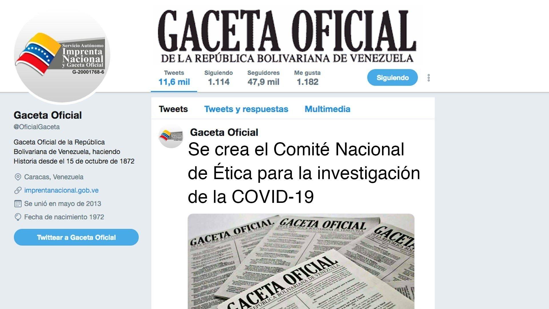 Se crea el Comité Nacional de Ética para la investigación de la COVID-19