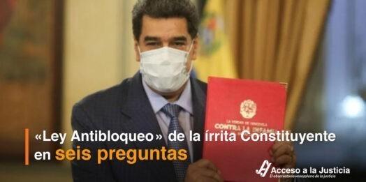 «Ley Antibloqueo» de la írrita Constituyente en seis preguntas