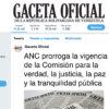 ANC prorroga la vigencia de la Comisión para la verdad, la justicia, la paz y la tranquilidad pública