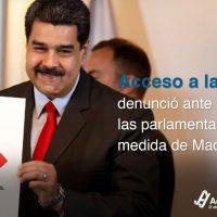 Acceso a la Justicia denunció ante la CIDH las parlamentarias a medida de Maduro